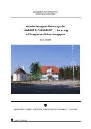 """Vorhabenbezogener Bebauungsplan """"HOFGUT ELCHENREUTE"""", 1 ..."""