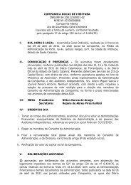Ata de Assembléia Geral Ordinária de 29/04/2011 - Port of Imbituba