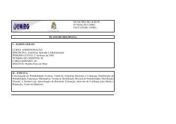 curso: administração disciplina