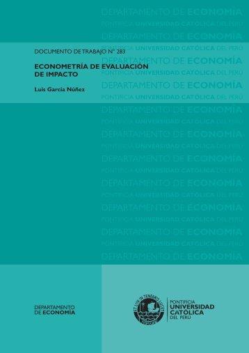Econometría de Evaluación de Impacto - Pontificia universidad ...