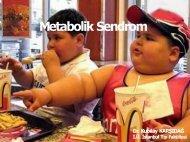 Metabolik Sendrom Metabolik Sendrom