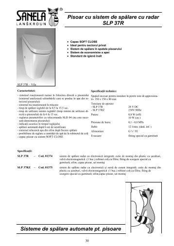 Pisoar cu sistem de spălare cu radar SLP 37R Sisteme de spălare ...