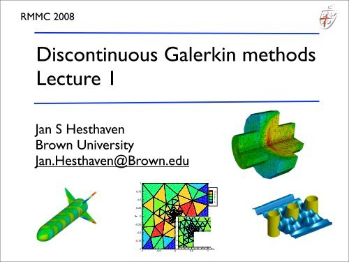 Analysis and Applications Nodal Discontinuous Galerkin Methods Algorithms