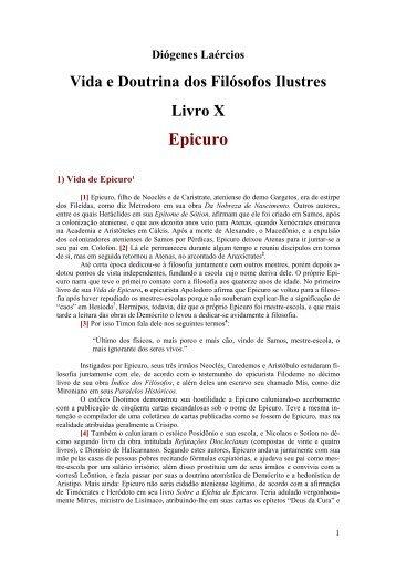 Epicuro - Cinfil Curso Independente de Filosofia