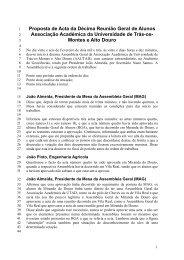 Reunio Geral de Alunos - Universidade de Trás-os-Montes e Alto ...