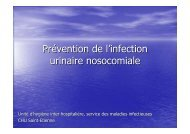 Prévention de l'infection urinaire nosocomiale - CClin Sud-Est
