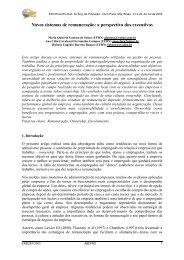 Novos sistemas de remuneração: a perspectiva dos ... - Abepro