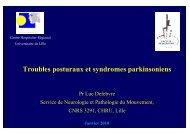 Troubles posturaux et syndromes parkinsoniens - Janv 2010