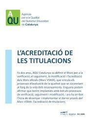 Sin título-6.indd - Agència per a la Qualitat del Sistema Universitari ...