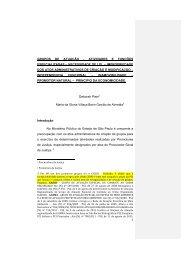 1 grupos de atuação - Associação Paulista do Ministério Público
