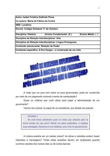 Autor: Isabel Cristina Gallindo Perez - Secretaria de Estado da ...