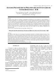 ESTUDOS PSICOMÉTRICOS PRELIMINARES DO INVENTÁRIO DE ...