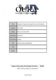 Title PASCAL ET WALLIS AU SUJET DE LA ... - Osaka University