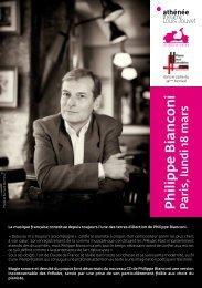 Philippe Bianconi Paris, lundi 18 mars - Piano aux Jacobins