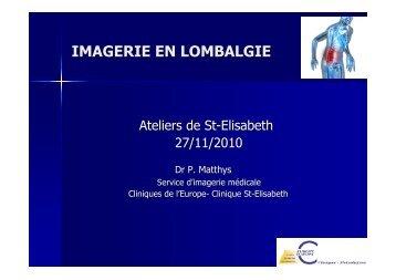 IMAGERIE EN LOMBALGIE - Europa Ziekenhuizen