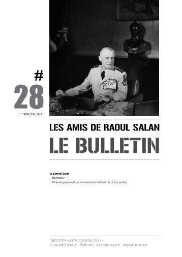bulletin 28 / 1er trimestre 2011 - Association des amis de Raoul Salan