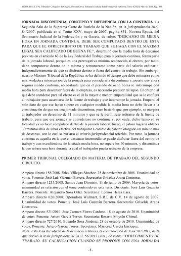 JORNADA DISCONTINUA. CONCEPTO Y DIFERENCIA CON LA ...