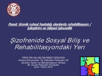 Şizofrenide Sosyal Biliş v Rehabilitasyondaki Yeri ofrenide Sosyal ...