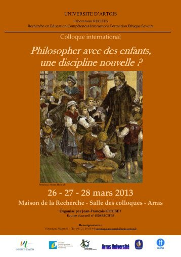 Programme colloque - Université d'Artois