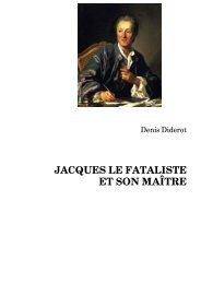 JACQUES LE FATALISTE ET SON MAÎTRE - Medianeo