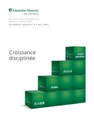 Croissance disciplinée - Manulife Financial
