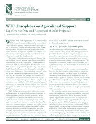 WTO Disciplines on Agricultural Support: Experience to Date and ...