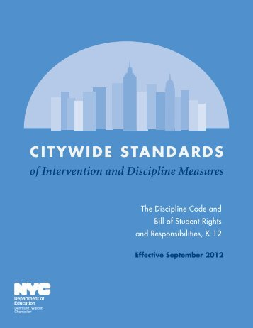 Citywide Standards of Intervention and Discipline Measures