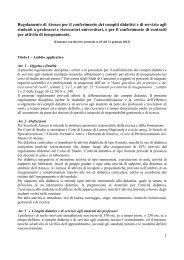 Regolamento di Ateneo per il conferimento dei compiti didattici e di ...