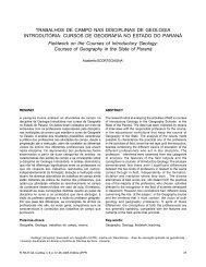 Trabalhos de campo nas disciplinas de Geologia Introdutória