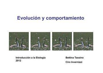 Comportamiento y Evolución - Etología