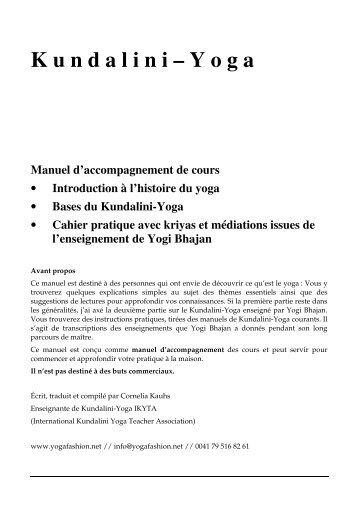 Manuel Yoga pdf - kundalini yoga lausanne