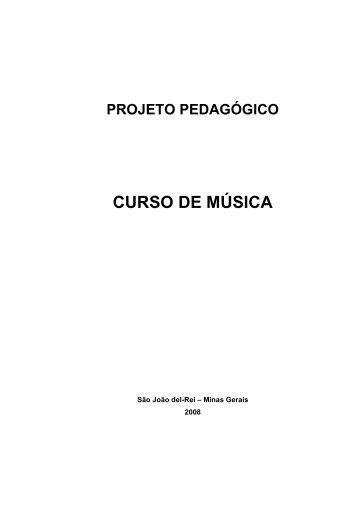 Proposta de Plano Pedagógico: - UFSJ