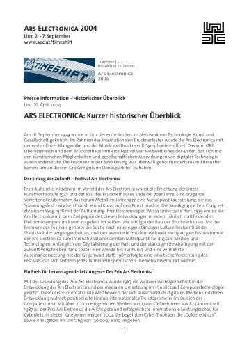 Geschichte - ARS Electronica