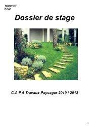 Dossier de stage - EREA-Travaux Paysagers