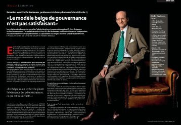 «Le modèle belge de gouvernance n'est pas satisfaisant» - Eric De ...