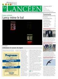 Le Lancéen du mois de novembre 2010 - Lancy