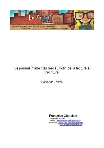 Le journal intime : du réel au fictif, de la lecture à l'écriture