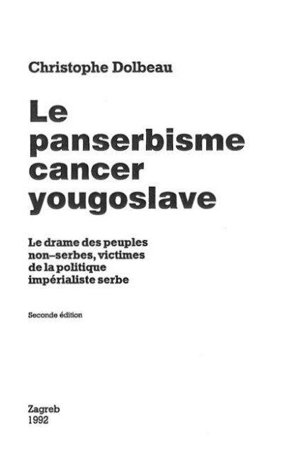 Le panserbisme - Voice of Croatia