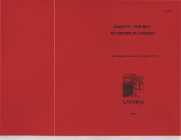 Fonds Baylot - Ordre de Lyon