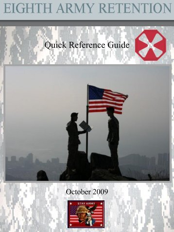Retention Quick Reference Guide - Eighth Army - U.S. Army