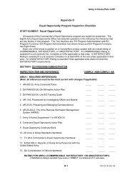 Appendix O Equal Opportunity Program Inspection Checklist STAFF ...