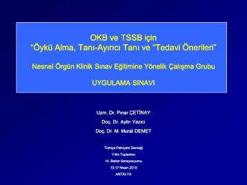 OKB ve TSSB için