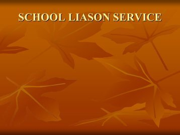 School Liaison Brief