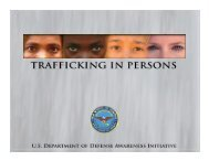 DoD Awareness Training for Combating Trafficking in Persons