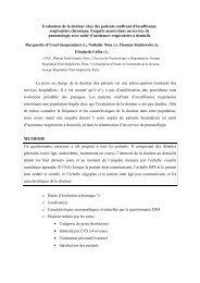 Evaluation de la douleur chez des patients souffrant d ... - CNRD