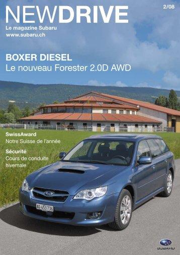 BOXer DieSeL Le nouveau Forester 2.0D AwD - Subaru