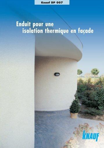 Enduit pour une isolation thermique en façade