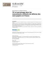 TIC et parrainage dans les mouvements militants de ... - ePractice.eu