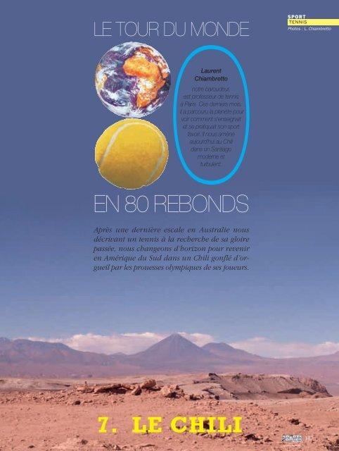 7e volet: le Chili - Magazine Sports et Loisirs