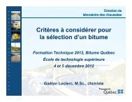 PG - Bitume Québec